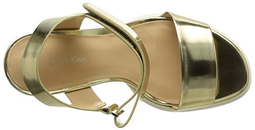Calvin Klein Dylan Damen Sandalen Beige - Beige (Lgd/Metallic Box)