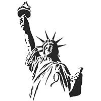 Estatua de la libertad aerógrafo, Wall Art, plantilla de pintura, auténtica Mylar 125