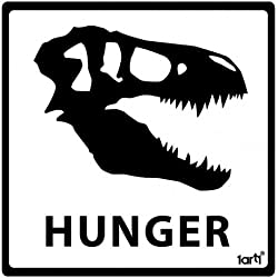 Dinosaurios - Hunger Pegatina Vinilo Autoadhesivo (9 x 9cm)
