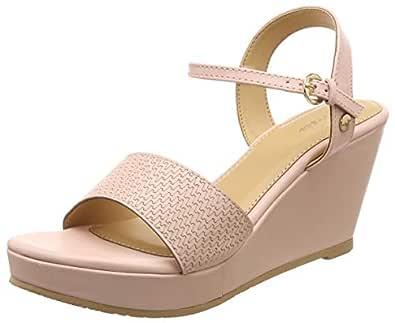 BATA Women's Finn Red Fashion Sandals-3 UK/India (36 EU) (7615904)