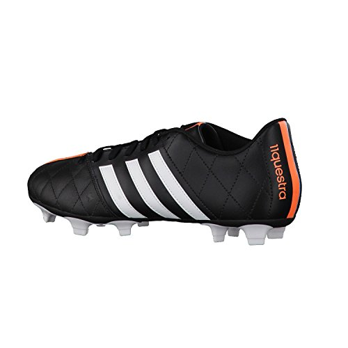 Adidas Chaussures de Sport Homme Football 11Questra Mens Football Boots FG Leather Soccer Boots Firm Ground Black/White UK Sizes 6-11New B34124 core black/ftwr white/flash orange s15