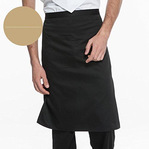 Taille schürzen Mit pocket Extra lange krawatten Hälfte Kochen Schürze backen Einheitlich für barkeeper Kellner Coffee shop Restaurant Nautische Kittel Unisex-J 66x68cm(26x27inch) -