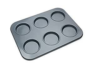 Fox Run Nonstick 6 Cup Large Shallow Muffin Crown Pan Cupcake Top Mold New 4474
