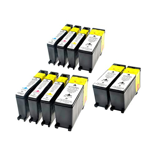 LS 10 Patronen für Lexmark 100 XL 4-2-2-2 4xBlack,26 ml 6xColor,16 ml,kompatibel (Lexmark Patrone Xl 100)