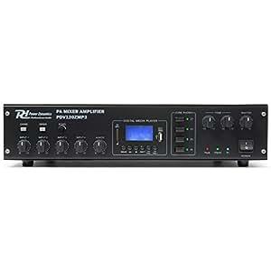 Power Dynamics PDV120ZMP3 Amplificateur 4 canaux sono 120W