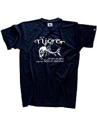 Viking Shirts Heil Dir Njördr-Schutzgott für die Seefahrer und Fischer Angler Wikinger T-Shirt