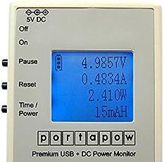 PortaPow Premium USB + DC Power Monitor Leistungsmesser / Leistungsmessgerät digitales Multimeter / Amperemeter V2