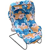 Tender Care India Multipurpose 10 In 1 Baby Carry Cot/Baby Bouncer with Mosquito Net and Sun Shade (Blue)