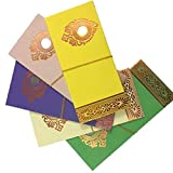 INDOGIFTS Paper Shagun Envelopes with Coin (Multicolour)- Pack of 40