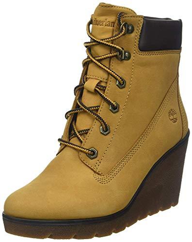 Timberland Damen Paris Height 6 Inch Stiefel, Gelb (Spruce Yellow Elko Luxe), 40 EU