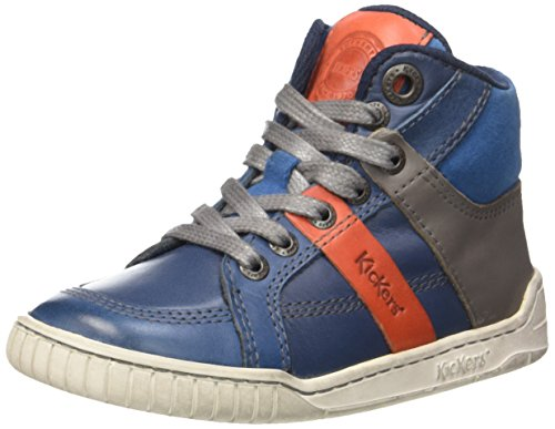 KickersWincut - Scarpe da Ginnastica Basse Bambino Bleu (Marine/Orange)