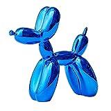 Homyl Sculpture Moderne de Chien Ballon Statue en Résine - Bleu
