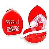 AIESI Pocket Mask máscara de emergencia Profesional para reanimación respiración boca a boca - CPR Resuscitator
