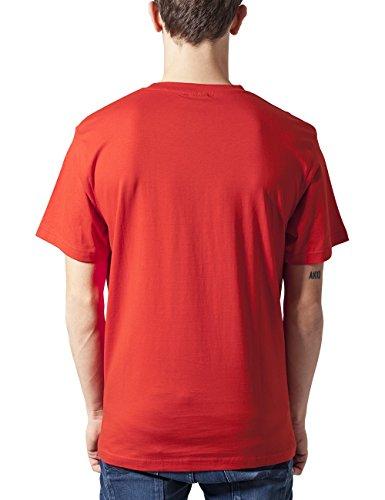 Urban Classics TB168 Herren T-Shirt Basic Tee Rot (red 199)