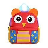 GWELL Tier Babyrucksack Wasserdicht Kindergartenrucksack Schultasche Kinder Mädchen Jungen eule