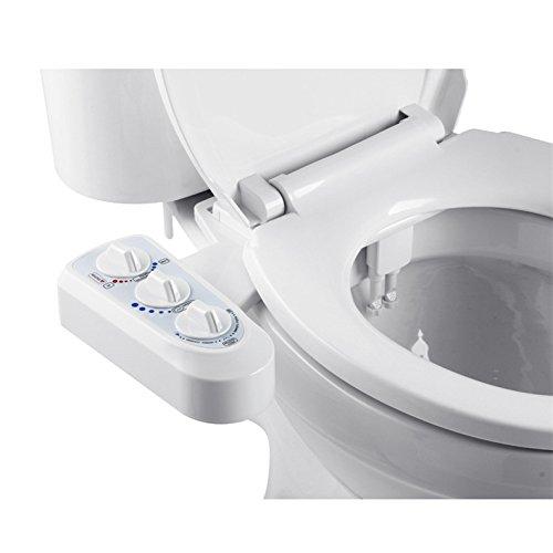 Selbstreinigung Bereich (JOYOOO Bidet für WC,nicht elektrische intelligente mechanische Bidet doppelte düse Dusch-WC mit Warmwasser für Intimreinigung,Aufsatz mit heißem und kaltem Wasser Reinigungsfunktion)