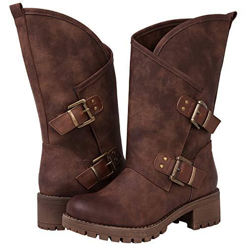 eb723e60fff Global Win GLBALWIN Women s 18YY01 Brown Fashion Boots