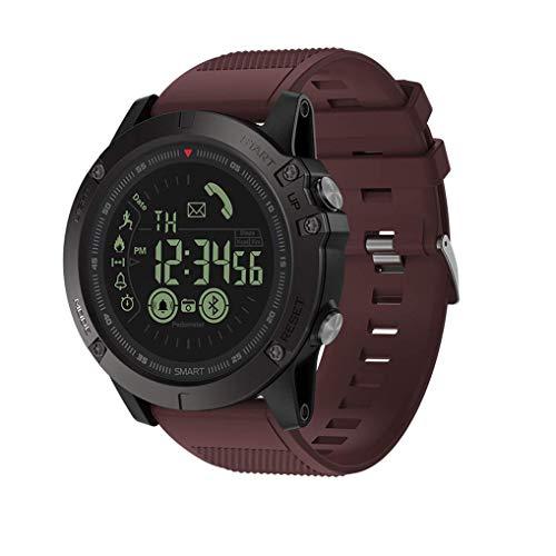 M&T Haoqing Sport Smartwatch Smart Watch stilvolle Training Telefon Boys multifunktionale digitale Outdoor-Kalorienzähler und Informationen Erinnerung für Android und IOS Smartphone (rot)