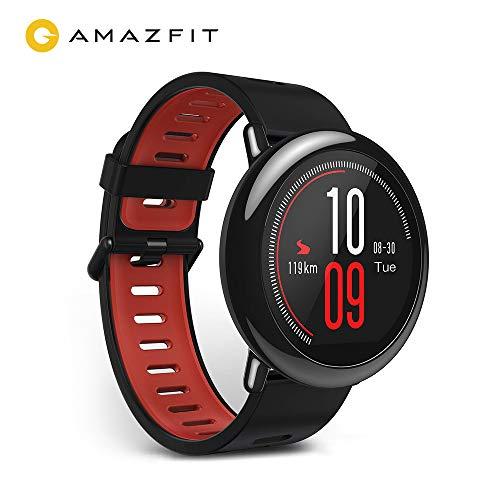 Amazfit Pace Huami Reloj Inteligente con GPS, Monitor de Ritmo cardíaco, táctil, Impermeable, Deportes múltiples, Reproducción de música sin teléfono. Compatible con iPhone y Android