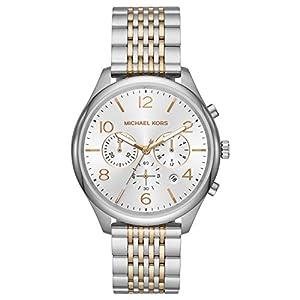 Michael Kors Herren Chronograph Quarz Uhr mit Edelstahl Armband MK8660