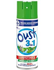 Oust 3 in 1 Spray Elimina Odori Disinfettante - 400 ml