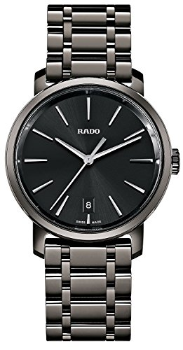 Rado Men's Ceramic Band & Case Swiss Quartz Black Dial Analog Watch R14066182