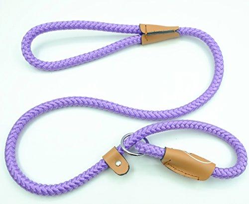 pet-cuisine-dog-leash-training-slip-lead-puppy-nylon-rope-adjustable-loop-collar-purple