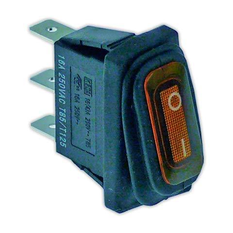 DOJA Industrial   Interruptor 11x30 mm I ambar con piloto   Interruptores...