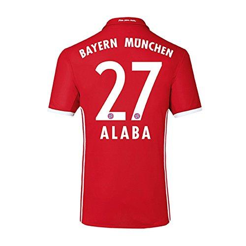 2016-17 Bayern Home Shirt (Alaba 27) - Kids (T-shirt Jugend Deutschland)
