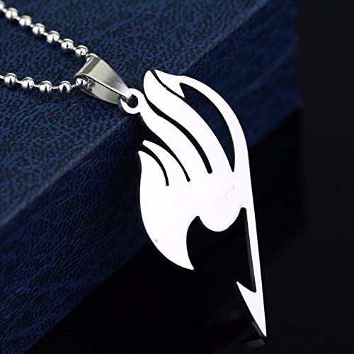 DTKJ Fairy Tail Necklace Guild Logo Tattoo Pendant Anime Fashion Jewelry Leather Rope for Men and Women (Fairy Anime Tail Halskette)