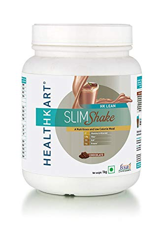 HealthKart SlimShake-Meal Replacement Shake(with 19.5g Protein and 4.8g Fiber)-Weight Management (Chocolate)- 1kg