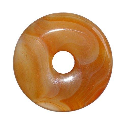 Carneol Achat Donut Anhänger rund Ø ca. 35 mm.(3662)