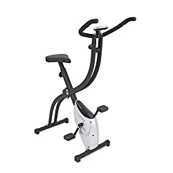 maxVitalis exercise bike S-Bike Fitnessbike bike trainer foldable 2,5 kg flywheel with hand pulse measurement training computer black / silver 100 kg loadable