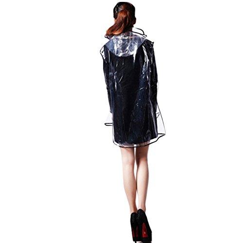 Transparent Raincoat Adulte Rain Gear Poncho environnementale coupe-vent pour l'extérieur Creative ( couleur : Rose ) Vert