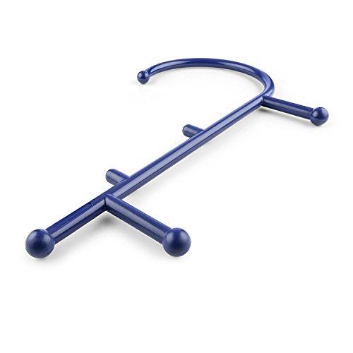 CAPITAL SPORTS Mr Trigger • Massagehaken • Triggerpunkt Massagegerät • Massagestab • Lösen tiefsitzender Muskelverspannungen • bei Muskelkrämpfen • Faszienverklebungen • 6 Massagenoppen • ergonomische J-Form • hochbelastbar • Nylon-Kunststoff • blau