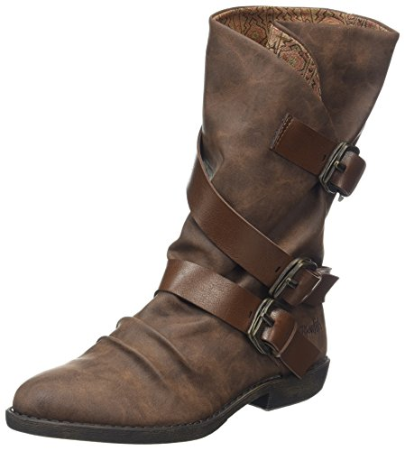 Blowfish Damen Alms Stiefel, Braun (Coffee/Whisky 259), 36 EU - Buckle Strap Knee Boot