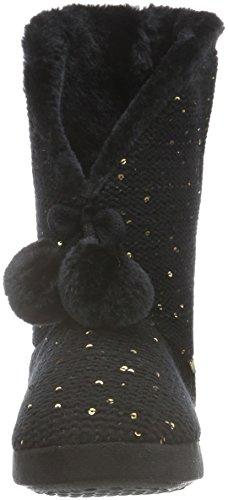 flip*flop Cottage Mate Glam, Chaussons à doublure chaude femme Noir - Noir (000)