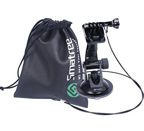 Smatree Saugnapf Halterung + Edelstahl Tether Lanyard + Kordelzug Bag für GoPro Hero 5/4/3+/3/2/1/Session -