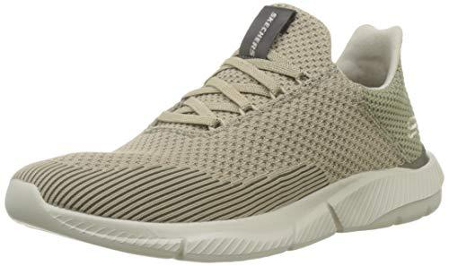 Skechers Herren Ingram- Taison Sneaker, Beige (Dark Taupe Dktp), 44 EU Dark Beige Schuhe