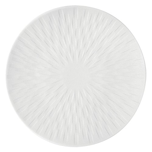 DEGRENNE - Boréal Satin lot de 3 assiettes porcelaine à pain ronde 15 cm - Blanc