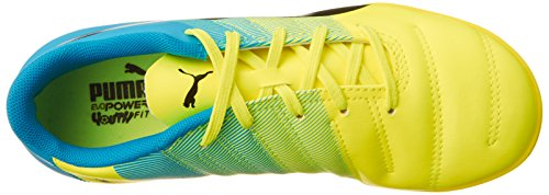 Puma evoPOWER 4 3 Turf Jr  Unisex Kids  Football Training Shoes  Yellow  Yellow Black Blue   6 UK  39 EU
