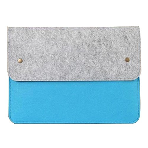 Moollyfox 11/13/14/15 Pollici Laptop Sleeve Felt Busta Copertura Grigio Chiaro Blue Lake