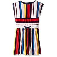 فستان ضيق بمقاس كبير للفتيات من شركة تومي هيلفيغر مع قفل بشريط فيلكرو وخصر مطاطي Red/Multicolor 10