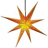 Weihnachtsstern Ø 75 cm gelb mit Glitter Adventsstern mit Beleuchtung wetterfest außen von Gartenpirat®