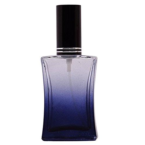 2 Pcs noir verre vide bouteille de parfum rechargeable gros Essential vaporisateur d'huile