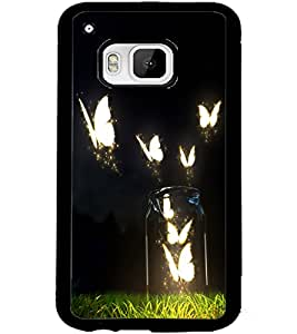 ColourCraft Creative Butterflies Design Back Case Cover for HTC ONE M9