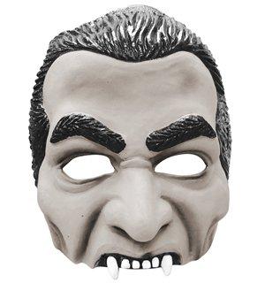Dracula Half Face (Weiße Gesichts Maske Ideen Kostüm)
