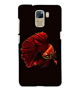 printtech Unique Fish Back Case Cover for Huawei Honor 7