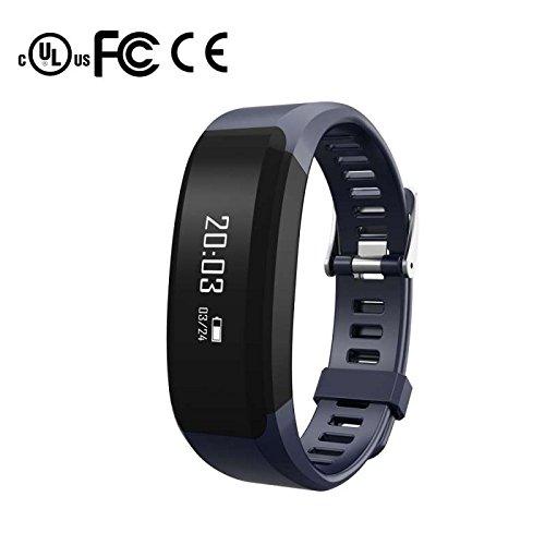 Fitness Armbänder mit Pulsmesser,Smart Fitness Tracker,Schlafmonitor Kalorienzähler Vibrationsalarm Anruf SMS Whatsapp Beachten Smart Uhr Freisprechen Anrufe Funktion,für Android/IOS/Samsung/Huawei