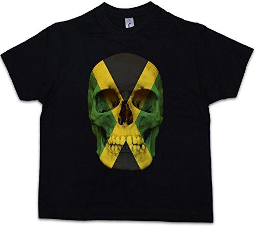 Shirt Flag Jamaican (Jamaica Jamaican Skull Flag Kinder T-Shirt Totenkopf Jamaika Fahne Rasta Irie)